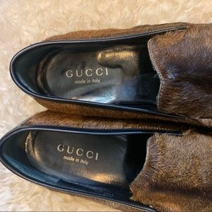 Gucci Shoes - Vintage 70s Gucci Calf Hair Loafers / Flats 8B